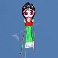 1 CÁI chất lượng Cao 2.25 m * 10 m Thể Thao Ngoài Trời bay đồ chơi động và đẹp Trung Quốc truyền thống Peking Opera mặt nạ diều