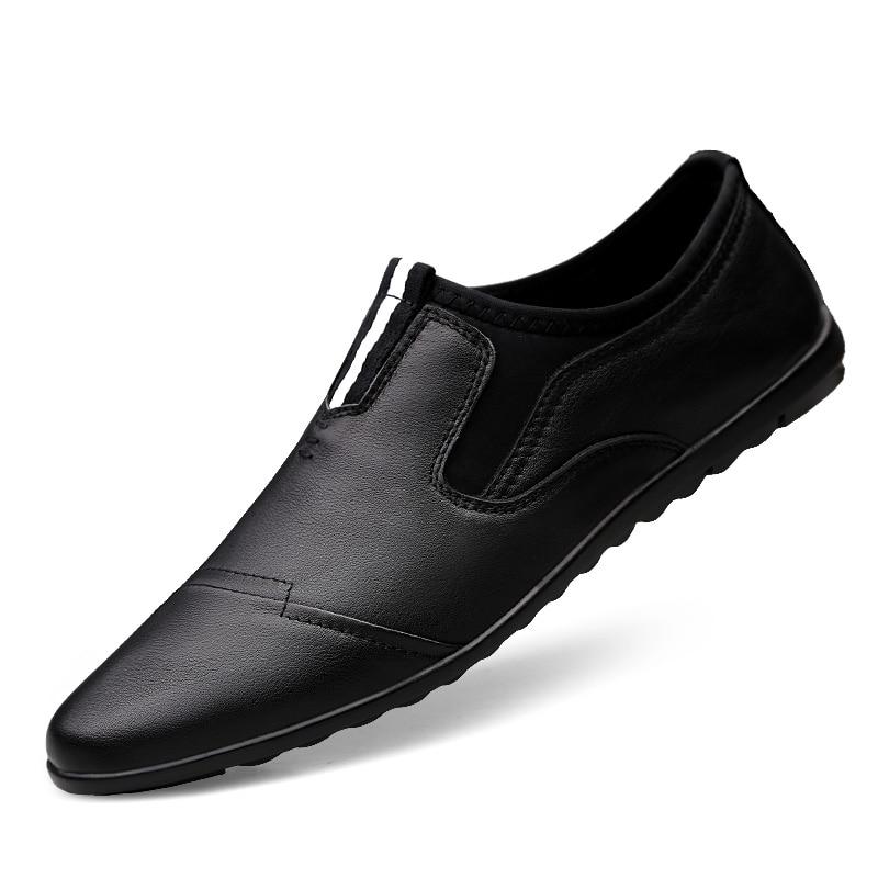 Da Couro Respirável De Preto Coreano Britânicos Dos Tendência Homens Casuais branco Moda Primavera Sapatos Jovens twp0Hqt