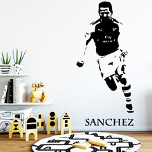 Free shipping football player Home Decor Vinyl Wall Stickers For Living Room Kids Art MURAL Drop Shipping