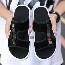 купить Casual Man Beach Sandals 2019 Roman Men Summer Shoes Gladiator Men's Sandals Shoe Flip Flops Large Size 46 Flat Sandals Fashion по цене 524.01 рублей