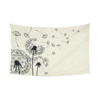 WARM TOUR Vintage Retro Style Home Decor Wall Art Dandelions With Flying Seeds On Wind Tapestry