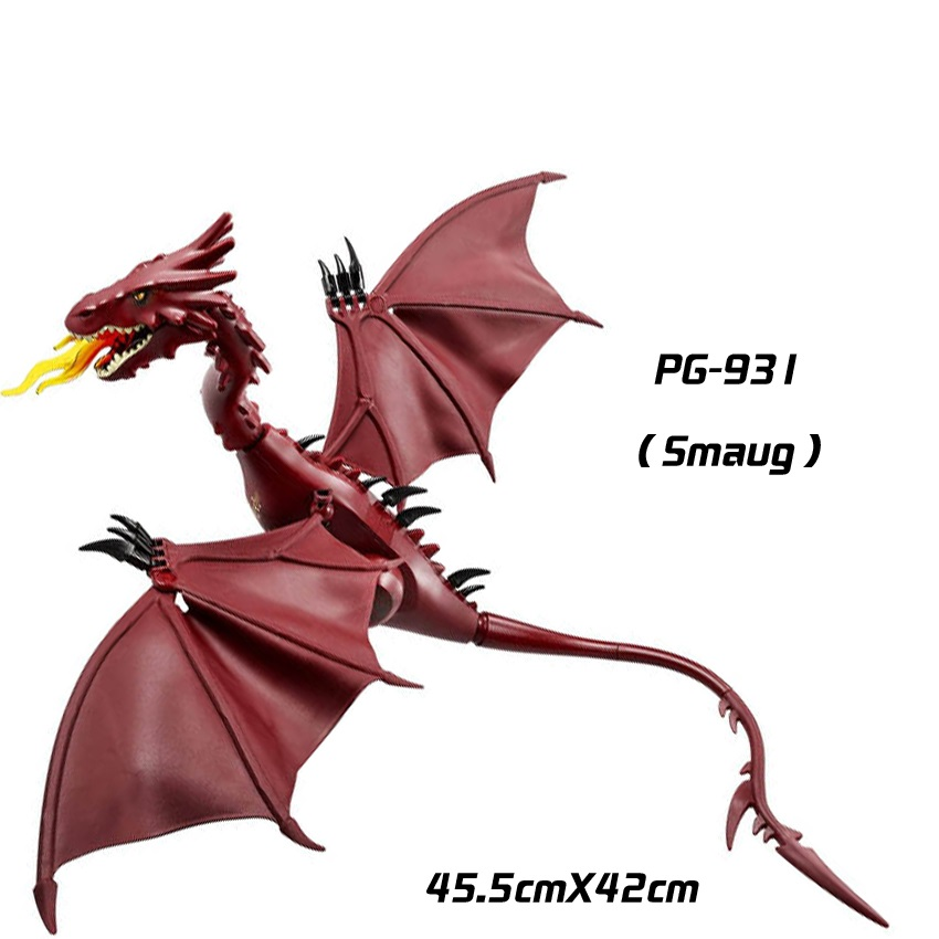 1pcs Smaug The Hobbit Ring lepin The Lord of the Rings  weapons original toy military accessories Compatible lepin mini figures pg931 the hobbit desolation of smaug 79018 the lonely mountain dol guldor battle building blocks educationa compatible with lpin