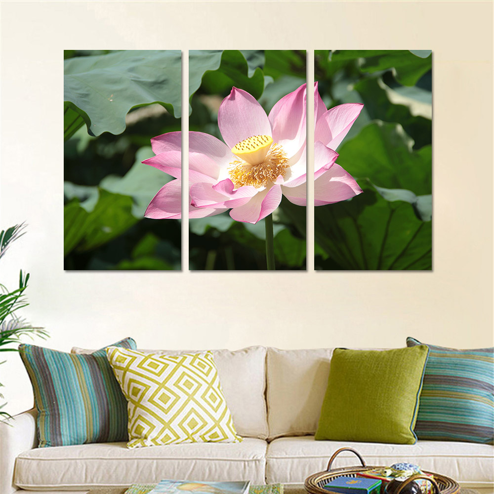 Oil Painting Canvas Art Painting With No Frame Landscape Lotus