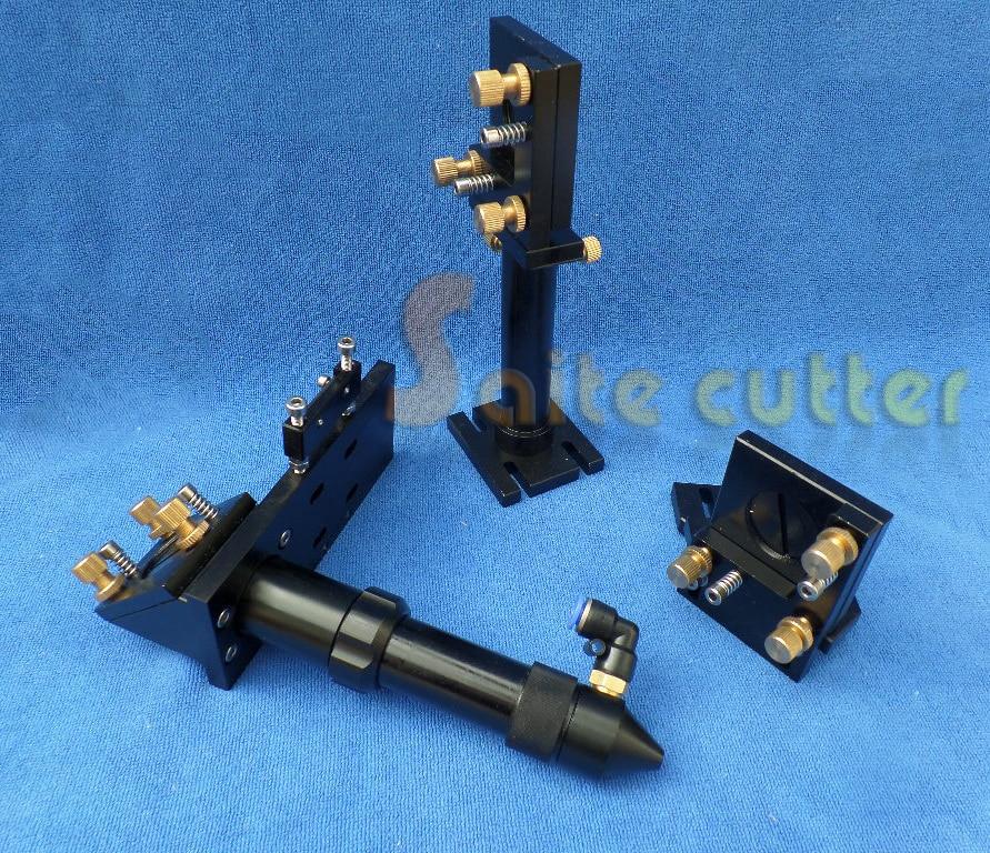 Set Apparecchio di Testa + Specchio + Lente Laser Co2 Intgrative Montaggio Cutter Engraver FL 2 2.5 4Set Apparecchio di Testa + Specchio + Lente Laser Co2 Intgrative Montaggio Cutter Engraver FL 2 2.5 4