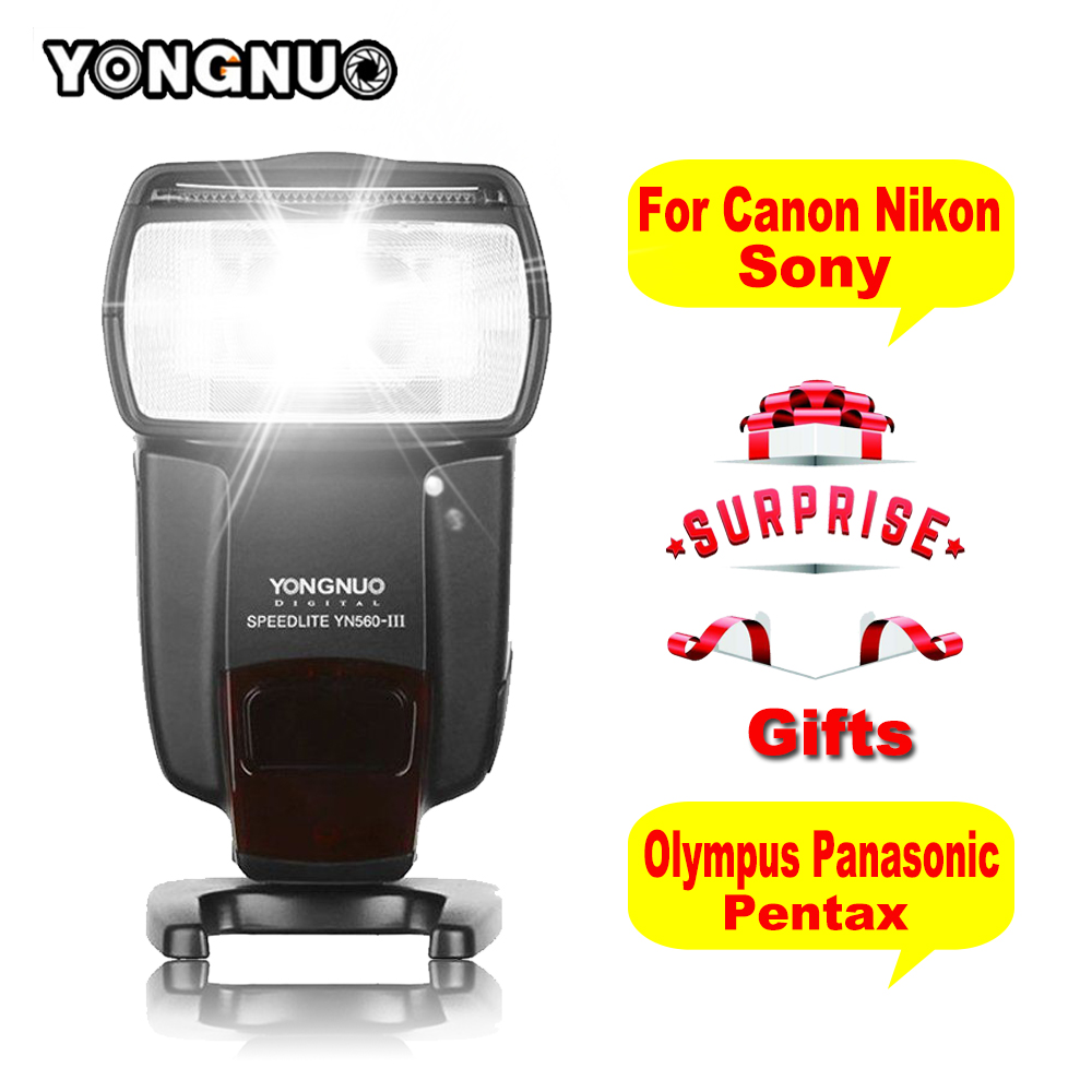 Yongnuo Professional Flash Speedlite YN-560III YN 560 III Wireless Flashlight for Canon Nikon Pentax Olympus Sony Digital Camera yongnuo yn 510ex yn510ex off camera wireless ttl flash speedlite for canon nikon pentax olympus pana sonic dslr cameras