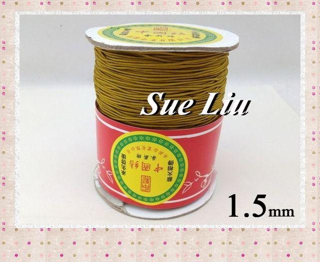 1.5mm Goldenrod Chinese Knot Beading 100% Nylon Shamballa Cord (145M/158yds Spool), NCNB-563