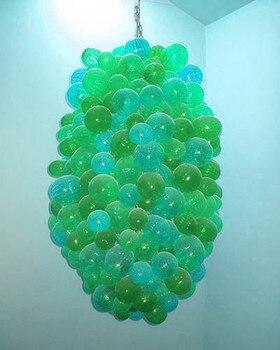 Декоративные светодиодные люстры в форме винограда, ручной работы, стеклянная люстра с шарами