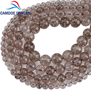 Gray Rock Crystal Austria Smoky Quartzs Beads Round Loose Beads Spacer 6 8 10 12mm For Diy Jewelry Necklace Bracelet Making(China)
