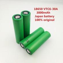 4pcs original 3.7V 3000mAh 18650 Li ion rechargeable battery for Electronic Cigarette us18650vtc6 vtc6 30A Lantern Toys Tools