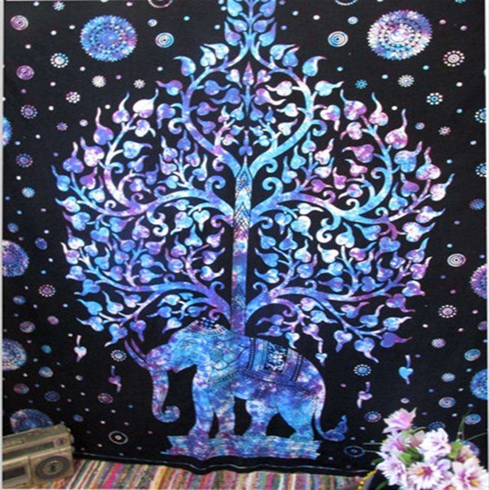 US $12 2 |Decorative Mandala Elephant Wall Hanging Tapestry Bohemian  Macrame Wall Blanket Cloth Wandkleed Home Decor Curtains Yoga Mat-in  Tapestry