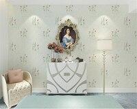 beibehang Natural senior silk non woven wallpaper three dimensional foam American country grass flower bedroom wallpaper 3d