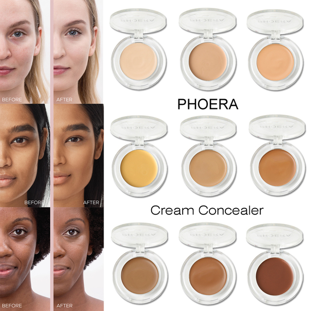 PHOERA Mineral Touch Whitening Facial Concealer Cover Pore Wrinkle Brighten Moisturizer Face Foundation Makeup Primer 2019