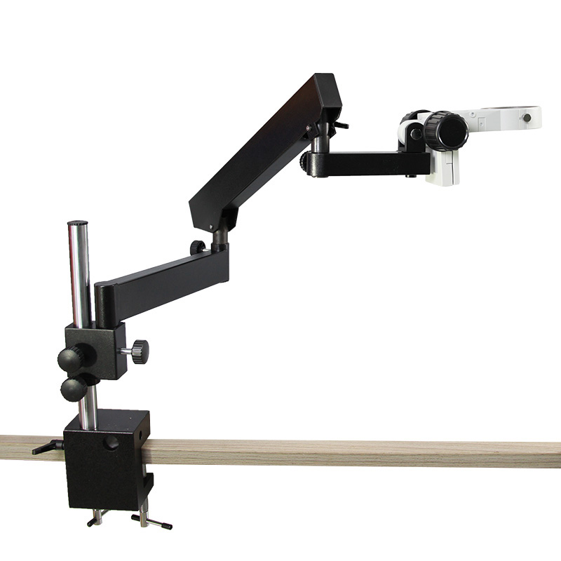 High Quality Articulating Pillar Clamp Stand Trinocular Stereo Microscope Arm 76MM Binocular Microscope Focuse Accessories lucky zoom brand strong darticulating arm pillar clamp stand for stereo microscopes microscope accessories free shipping