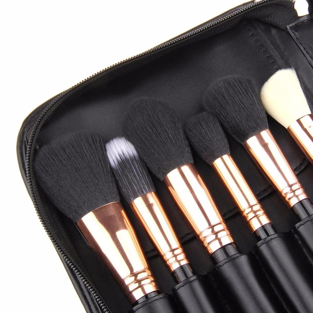 29 шт. набор кистей для макияжа Профессиональный косметический набор кистей для макияжа с высокое качество Искусственная кожа Чехол модные Макияж для Красота - 4