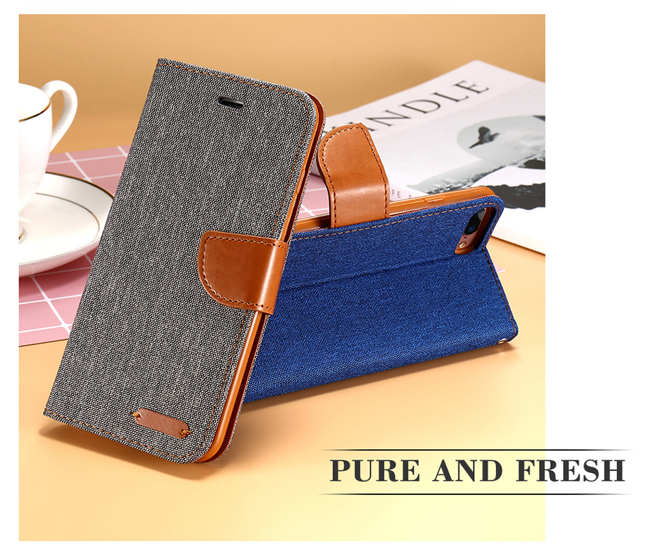 Book Flip Iphone 5S SE 5G Iphone 7 X 6S Plus Cases Card Slot Wallet Holster Leather Cover For Iphone X 5S Case
