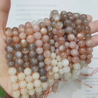 Lii Ji Natural Stone Moonstone Sunstone Round shape beads 8mm DIY Jewelry Making Necklace or Bracelet Approx 39cm