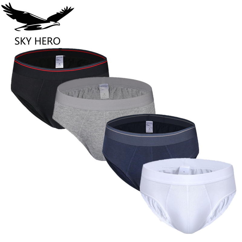 4pcs/lot 100%cotton Men's Underwear Underpants Male Underwear Men Slip Homme Mens Briefs Calzoncillos Hombre Sexy Man Nkd Brief(China)