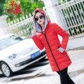 2017 Дешевые оптовая осень зима новый Хлопка-ватник перчатки трикотажные средней длины женской ватные тонкий все матч куртка