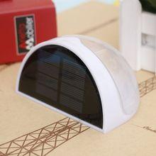 Solar Power Light Sensor 6 LED Wall Light Outdoor Garden Fence Waterproof Lamp