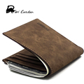 DERI CUZDAN 2017 Minimalist Vintage Designer Leather Men Wallets Slim Thin Mini Wallet Male Small Purse Money Credit Card Pocket