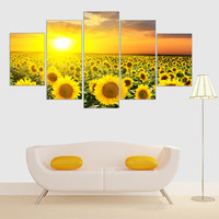 Frameless Canvas Print Sunshine Sunflower Wall Painting Wall Print And Poster Home Decoration Wall Picture For