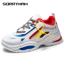Sneakers Men 2019 Casual Shoes Men Breathable adults Masculino Men Shoes New Trend Fashion Lace Up Color matching Zapatilla