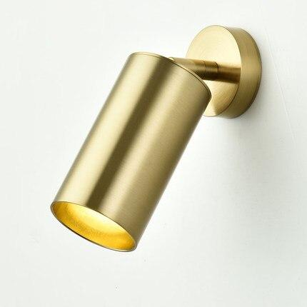 Античное золото длинные поворотный кронштейн настенный светильник для мастерской прикроватная Спальня Освещение Бра