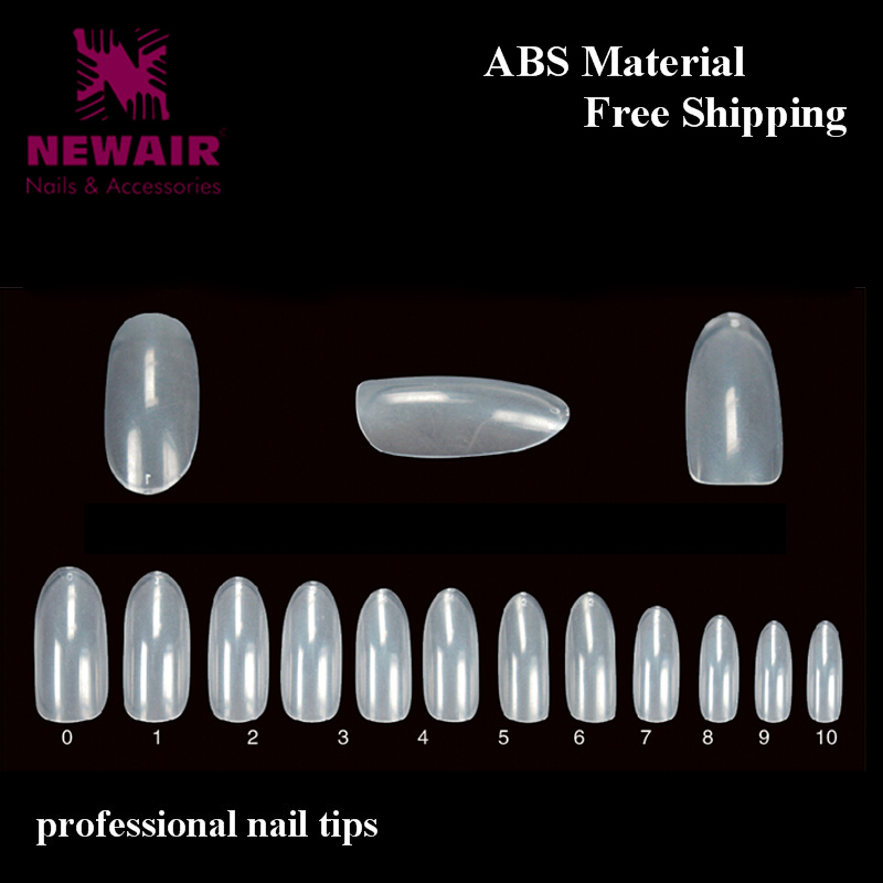 ✓Full Cover Nail Art Tips False Nail ABS Clear Artificial French ...