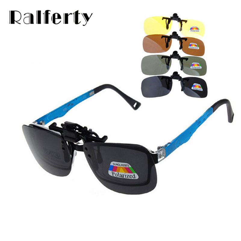 Ralferty Ultra Light Clip On Sunglasses Polarized Sun Glasses 3 Size Driving Night Vision Lenses, Anti-UVA Shades For Women Men outeye 2016 new men women polarized clip on sunglasses oculos sun glasses driving night vision lens unisex anti uva anti uvb