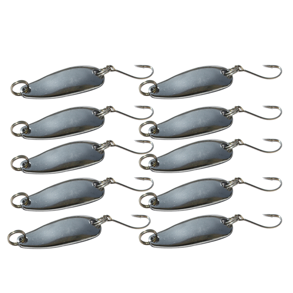 Hot sale 10pcs metal fishing lures bass crankbait spoon for Fishing tackle sale
