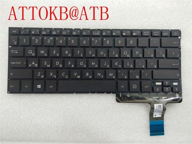 חדש RU מקלדת מחשב נייד עבור Asus UX330 ux330u UX330UA אנגלית רוסית מקלדת עם תאורה אחורית
