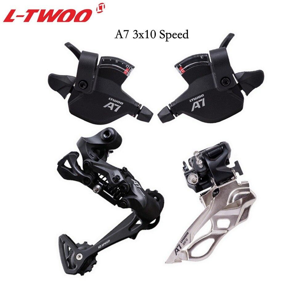 LTWOO vélo A7 3x10 10 vitesses levier shfter + dérailleur avant + arrière Derailler groupset pour vtt vélo 30 vitesses Cassette 32 T 36 T