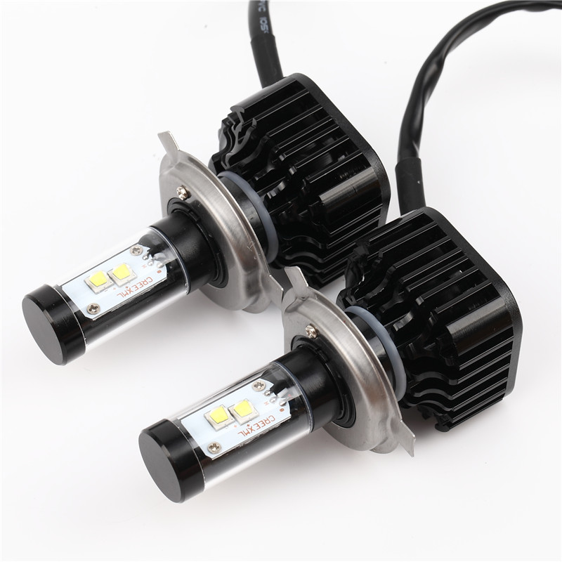 2X Car LED Headlight 12V 24V 80W 8000LM 6000K Light Auto Headlamp Bulb Kit H4 H7/8/9 H11 H13 9004 9005 9006 9007 12v led light auto headlamp h1 h3 h7 9005 9004 9007 h4 h15 car led headlight bulb 30w high single dual beam white light
