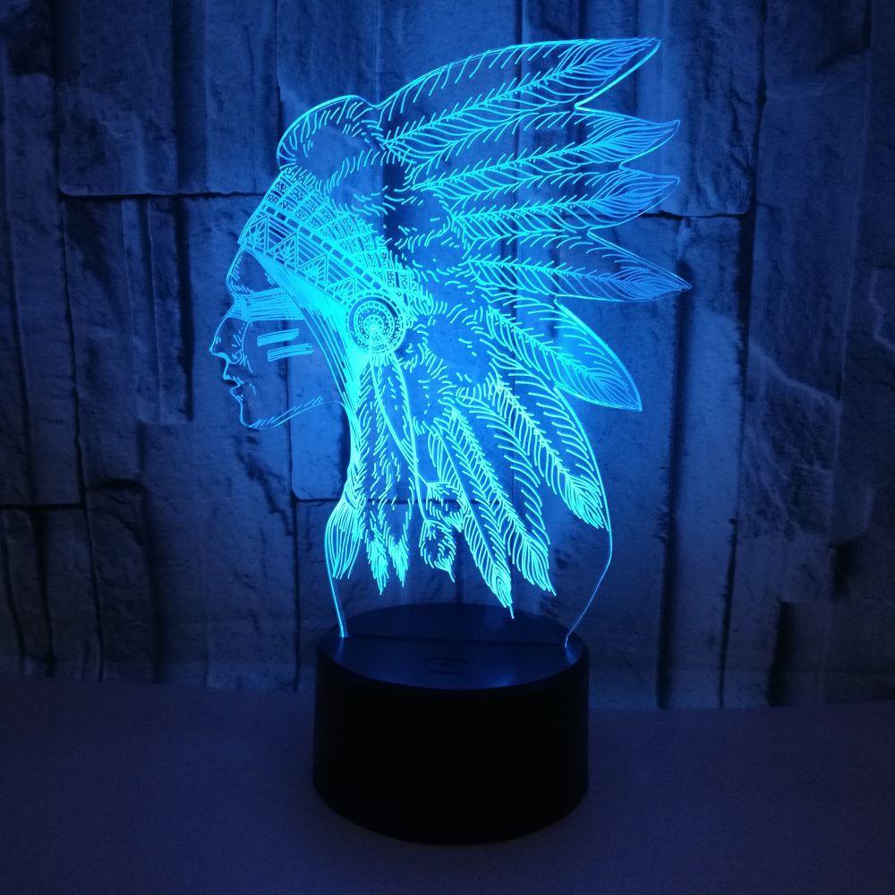 Chef 3D Led lampe de Table USB veilleuses enfants tactile interrupteur Usb Lampara lampe de Table décor à la maison éclairage