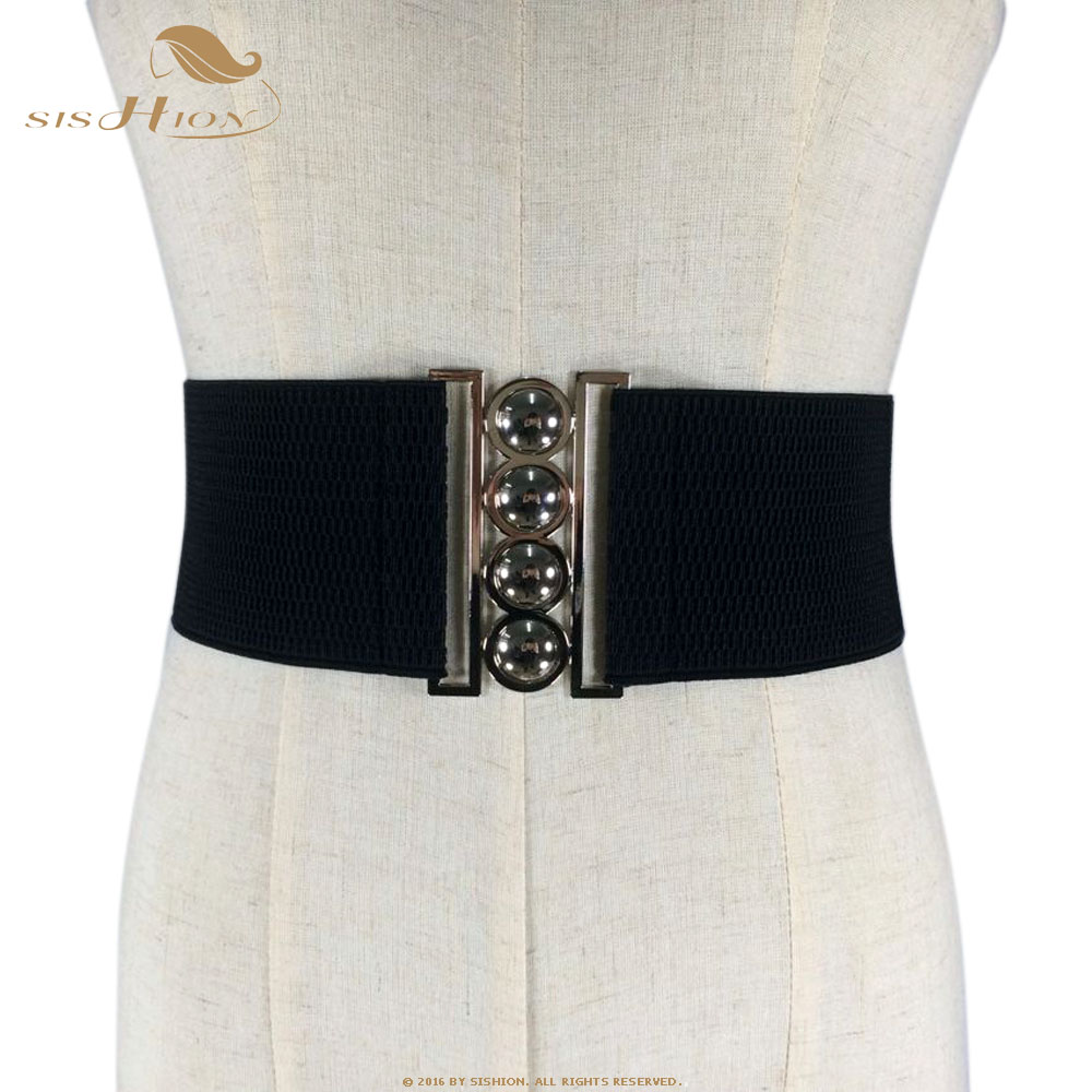 SISHION Fashion Women   Belt   Elegant White Red Black Wide Waistband Corset Vintage Design Stretch Elastic Female   Belt   VB0004