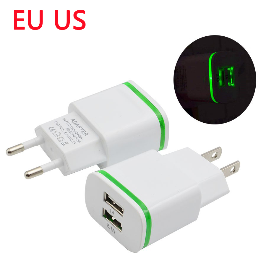 Fast USB Charger Universal Mobile Phone Charger for Samsung Xiaomi Huawei iphone Chargers 5V 2A Power Adapter Tablet LED display