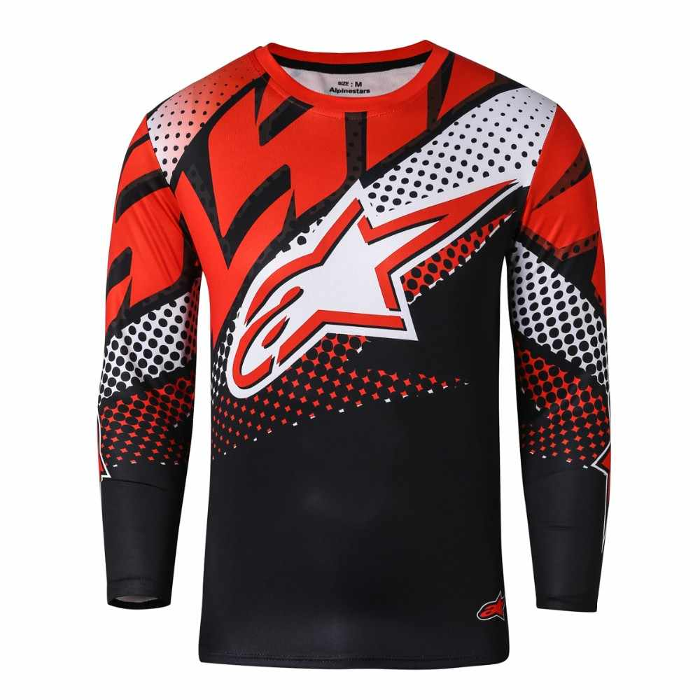 4bcbd7541 Al por mayor Motocross Jersey tpirable MTB Fahion Motocross Downhill Moto  Jerseys ciclismo Motocross ropa MX