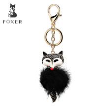 Foxer marka pluszowy wisiorek i brelok do kluczy z latarką waga breloki wiszący ornament dla kobiet torebka brelok do kluczyków samochodowych tanie tanio A93E Metal 0 2kg