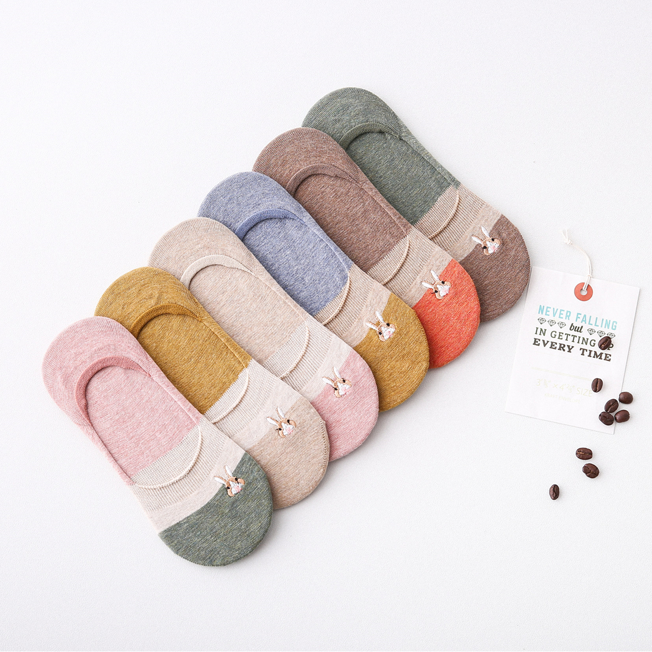 Cute rabbit Japanese boat socks invisible female shallow mouth low to help spring and summer thin section cotton