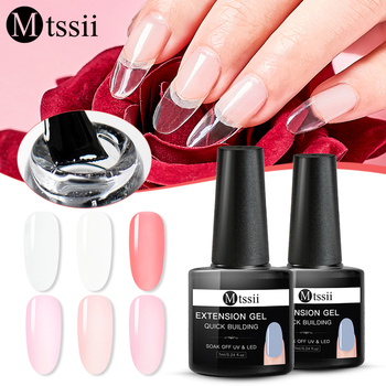 Mtssii 7ml Quick Extension Gel Nude White Clear Acrylic Poly UV Gel Manicure Soak Off Crystal Jelly Finger Building Gel Tips artificial nails