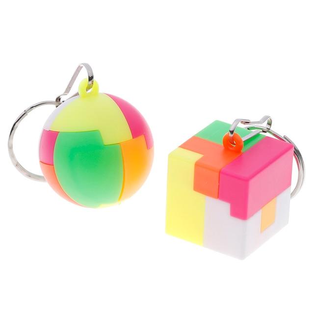 Bonito Enigma Magia Triedro de Aprendizagem Brinquedos Educativos Mini Chaveiro Cubo Mágico Cubo de Velocidade Do Cilindro Para Crianças Meninos