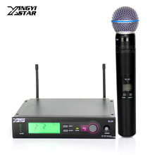 Профессиональный бета 58а 58 SLX2 вокальный ручной динамический микрофон SLX4 беспроводной приемник для УВЧ беспроводной микрофон караоке аудио микшер