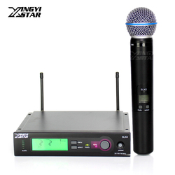 Professional Beta 58A 58 SLX2 Vocal Handheld Dynamic Mic SLX4 Cordless Receiver For UHF Wireless Microphone Karaoke Audio Mixer