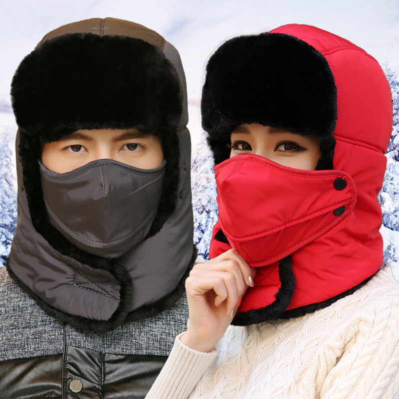 New Winter Balaclava   Beanie   hat Female for Women Men Face Mask Bonnet Windproof Thick Warm Snow Ski Winter Hat Cap earflap