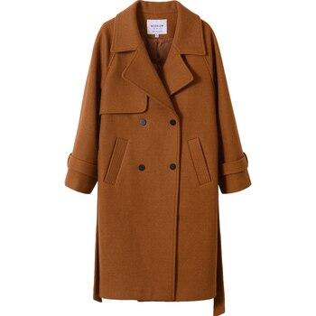 autumn and winter woolen coat female Mid-Long 5