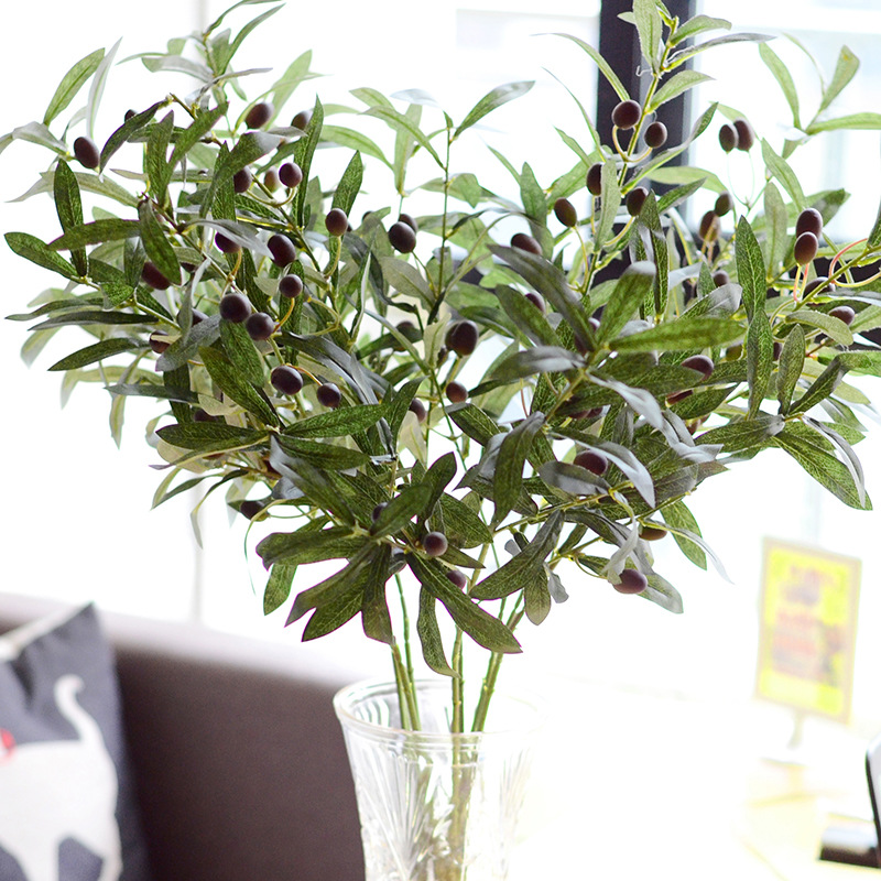 Beautiful 28inch Artificial Olive Branch Plants For Home Garden Decoration  NJ15