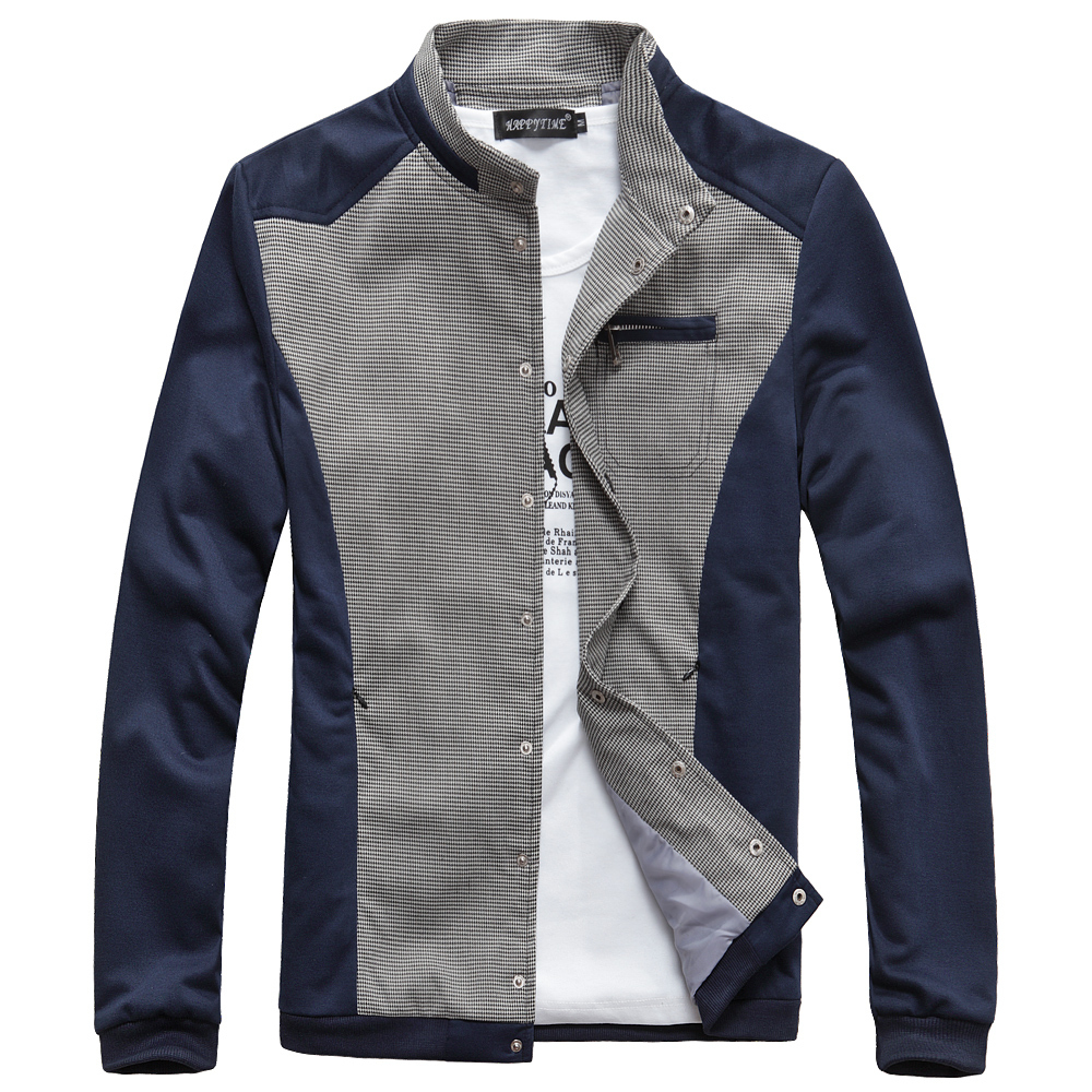 3003bb62e53 New 2015 Spring Mens Jacket Fashion Brand Plaid Spell Color Casual Sport Coats  Men Outdoor Jacket-in Jackets from Men s Clothing on Aliexpress.com