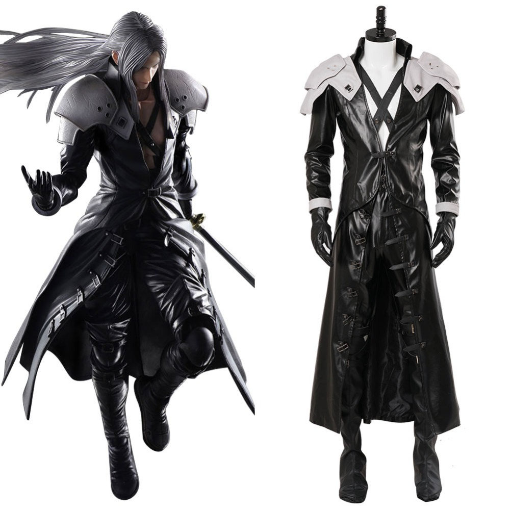Cosplay Final Fantasy VII: Remake Sephiroth Cosplay Costume Adult Mens Uniform Suit Outfit Halloween Carnival Costumes
