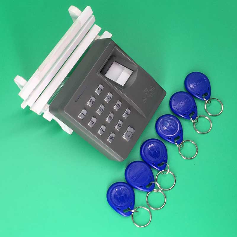 Free Shipping Fingerprint Electric Door Access Controller 125khz EM/RFID Card Reader +10 Piece Keyfob Kit biometric fingerprint access controller tcp ip fingerprint door access control reader