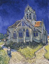 Reproduction Hand Painted Famous Artist Van Gogh Oil Painting on Canvas Wall Artwork The Church at Auvers Christmas Decoration full diamond embroidery world famous the church at auvers by vincent van gogh 50cm 40cm diy diamond painting